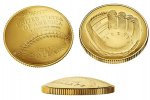 2014 National Baseball Uncirculated Hall of Fame $5 Gold Dollar
