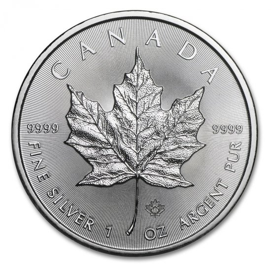 2015 1 oz .9999 Silver Canadian Maple Leaf - Click Image to Close