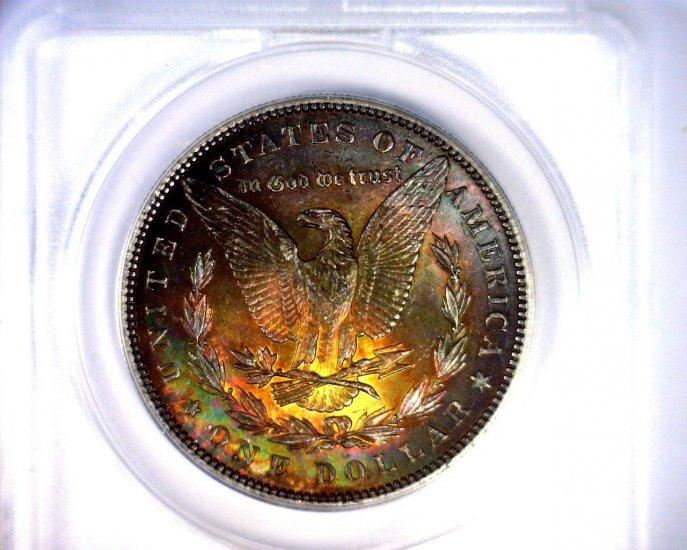 MS62 ANACS Beautifully Toned 1887 MorgSilver Dollar U S  Co- $1,