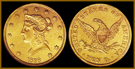 $10 Gold Liberty Double Eagle - XF - Click Image to Close