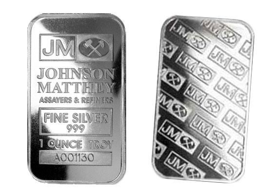 1 Oz Johnson Matthey 999 Fine Silver Bar Sealed Larger Image